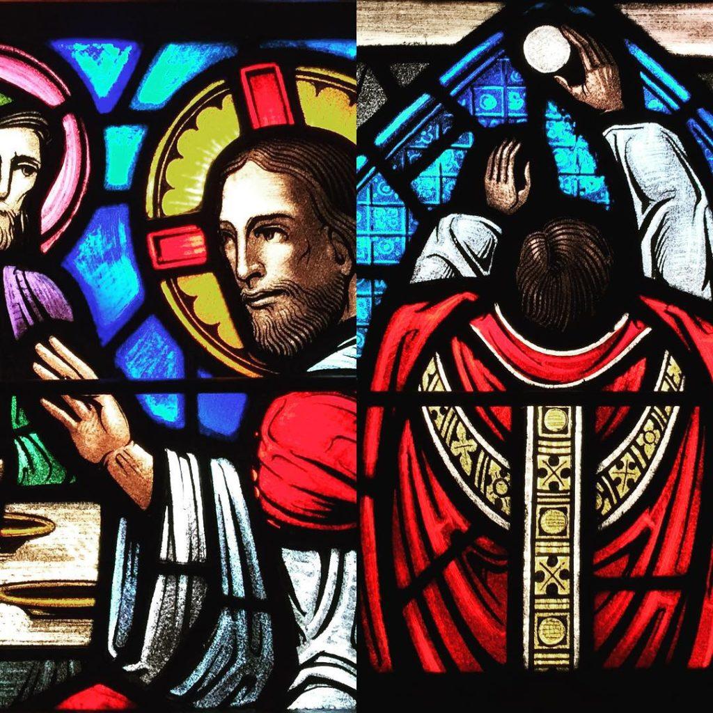episcopaldioceseofdallas stmatthewscathedral episcopal stainedglass eucharist