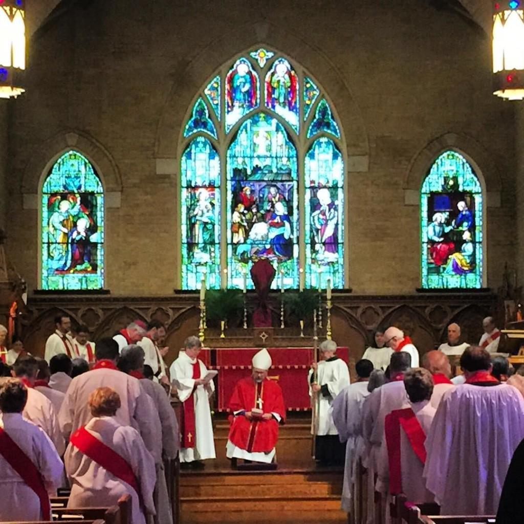 Clergy Renewal of Vows Holy Week 2016 stmatthewscathedraldallas clergy episcopalhellip